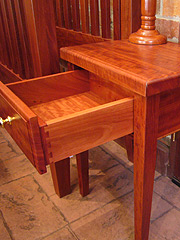 Red Gum Bed Side Table 2