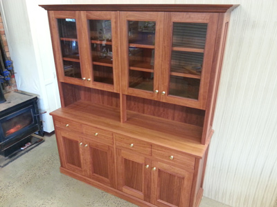 Redgum Wall Unit 7